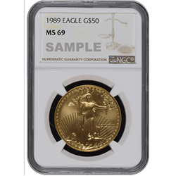 1989 American Gold Eagle MS69