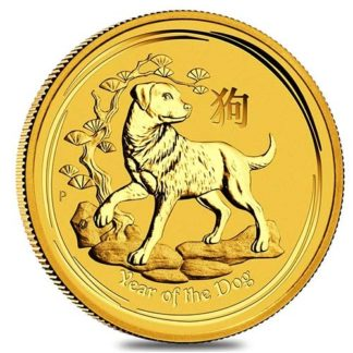 2018 1/4 oz. Gold Dog