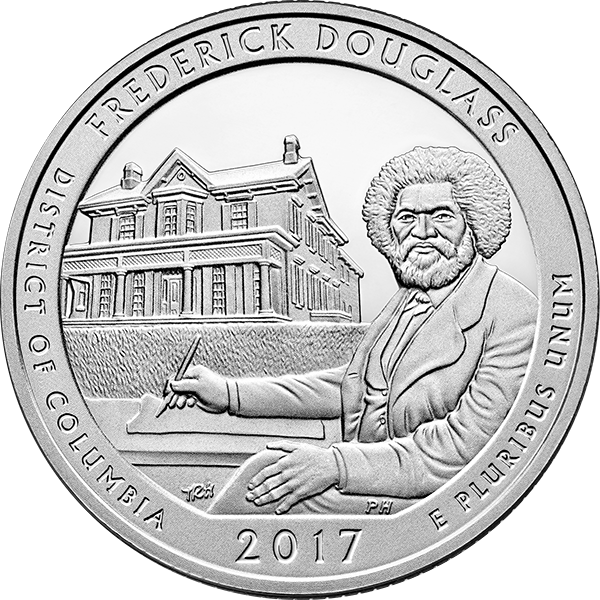 2017 5 oz. Silver America the Beautiful - Frederick Douglass (BU)