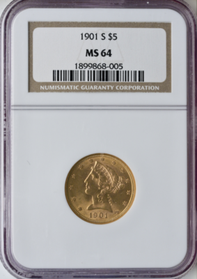 $5 Liberty MS64 Certified (Types Vary)
