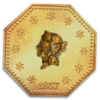 1857 $1 S.S. Central America Gold Nuggets