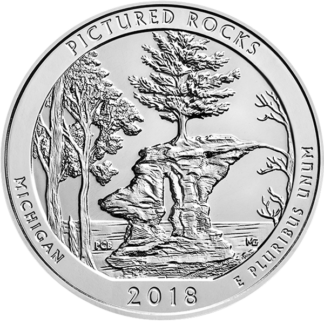 2018 5 oz. Silver America the Beautiful - Pictured Rocks National Lakeshore (BU)
