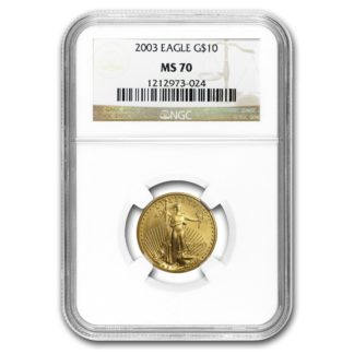 2003 1/4 oz. American Gold Eagle NGC MS70