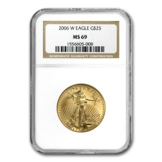 2006-W 1/2 oz. American Gold Eagle NGC MS69