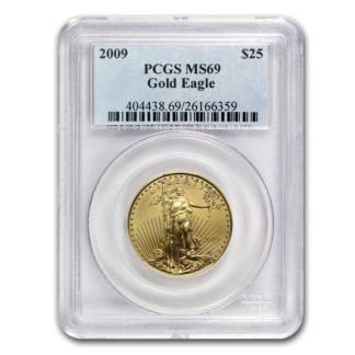 1/2 oz. American Gold Eagle PCGS MS69 (Dates our choice)