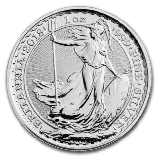2018 1 oz. Great Britain Silver Britannia (BU)