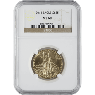 2014 1/2 oz. American Gold Eagle NGC MS69