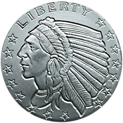 1 oz. Silver Round Incuse Indian - Golden State Mint