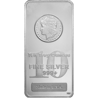 10 oz. Silver Bar - Morgan