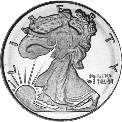 1/10 oz. Silver Walking Liberty Round (Brand our Choice)