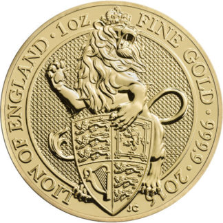 2016 1 oz. Gold Queen's Beast - Lion of England (BU)