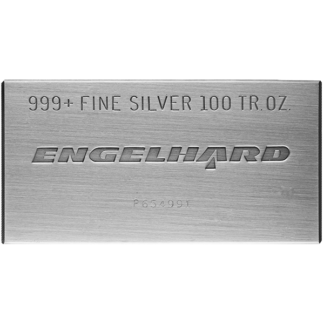 100 oz. Silver Bar - Engelhard