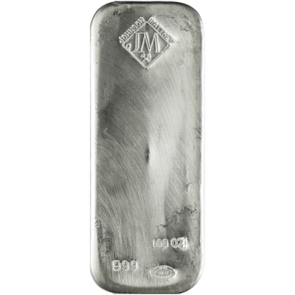 100 oz. Silver Bar - Johnson Matthey