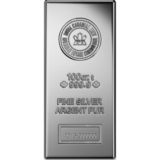 100 oz. Silver Bar - Royal Canadian Mint