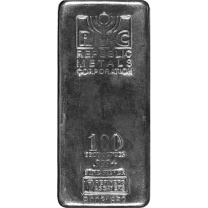 100 oz. Silver Bar - Republic