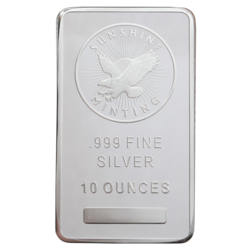 10 oz. Silver Bar - (Types Vary)