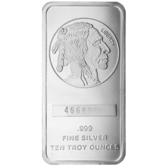 10 oz. Silver Buffalo Bar