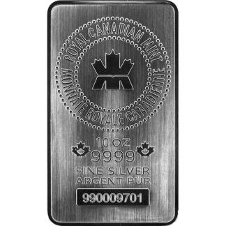 10 oz. Silver Bar - Royal Canadian Mint