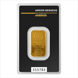 10 Gram Gold Bar - Argor-Heraeus