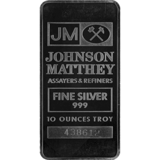 10 oz. Silver Bar - Johnson Matthey