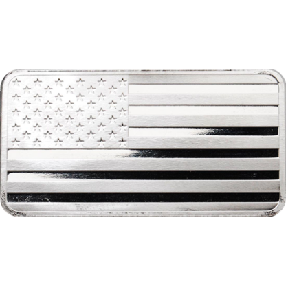 10 oz. Silver Flag Bar - Highland Mint