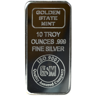 10 oz. Silver Bar - Golden State Mint