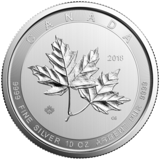 2018 10 oz. Canadian Silver Maple Leaf (BU)