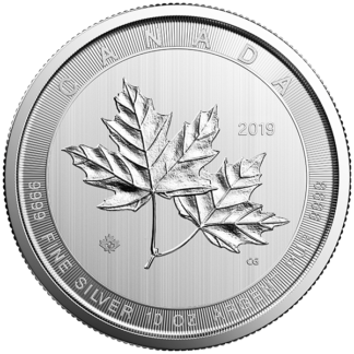 2019 10 oz. Canadian Silver Maple Leaf (BU)