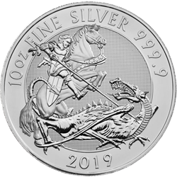 2019 10 oz. British Silver Valiant (BU)