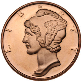 1 oz. Copper Mercury Dime Round