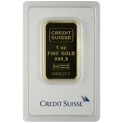 1 oz. Gold Bar - Credit Suisse