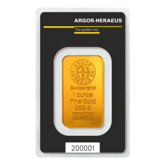 1 oz. Gold Bar - Argor-Heraeus
