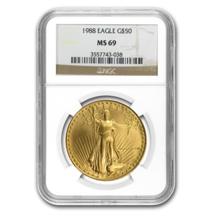 1988 1 oz. American Gold Eagle NGC MS69