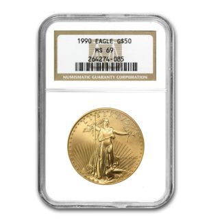 1990 1 oz. American Gold Eagle NGC MS69