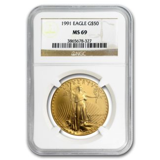 1991 1 oz. American Gold Eagle NGC MS69