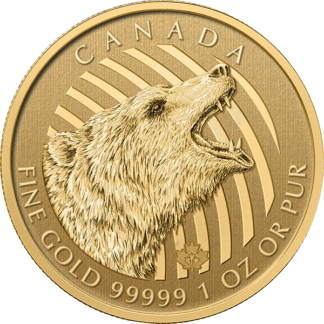 2016 1 oz. Royal Canadian Mint - Gold Grizzly Bear (BU)