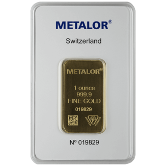 1 oz. Gold Bar - Metalor LBMA