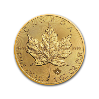 2019 1 oz. Canadian Gold Maple Leaf Incuse (BU)