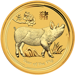 2019 1 oz. Gold Pig - Perth Mint (BU)