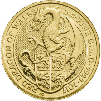 2017 1 oz. Queen's Beast Gold Red Dragon (BU)