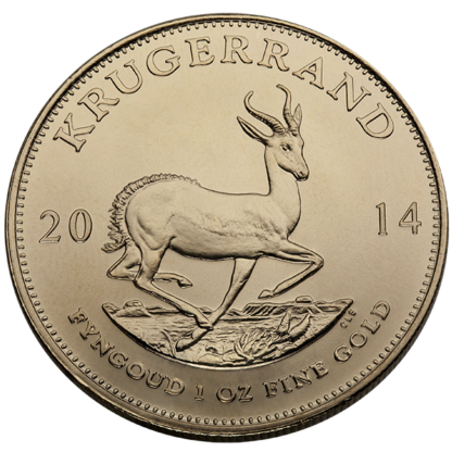 1 oz. South African Gold Krugerrand (Dates/Types Vary)