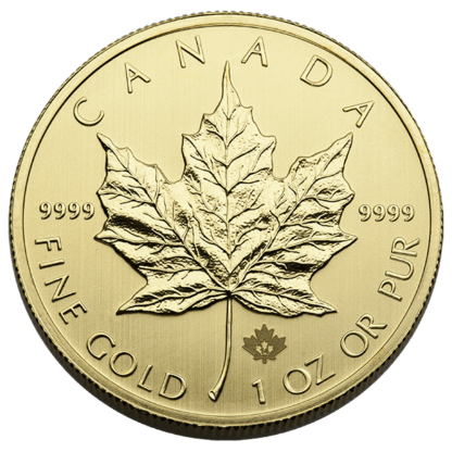 1 oz. Canadian .9999 Gold Maple Leaf (BU)