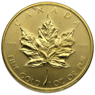 1 oz. Canadian Gold Maple Leaf Scruffy
