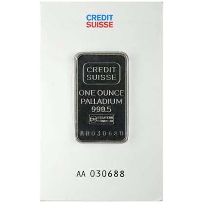 1 oz. Palladium Bar (Brand our choice)