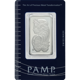 1 oz. Platinum Bar - PAMP Suisse