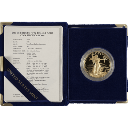 1 oz. American Gold Eagle Proof (Dates vary)