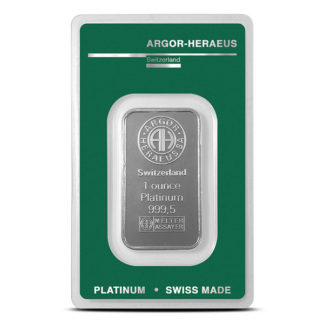 1 oz. Platinum Bar - Argor-Heraeus