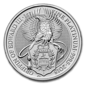 2018 1 oz. Platinum Queen's Beast Griffin (BU)