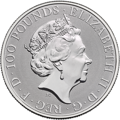 2019 1 oz. Royal Mint Platinum Queen's Beast - Unicorn (BU)