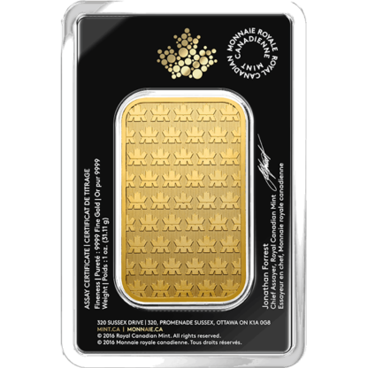 1 oz. Gold Bar - Royal Canadian Mint